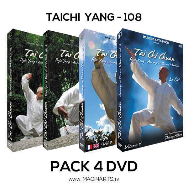 Pack 4 DVD vidéo Taichi Yang forme 108 avec Thierry Alibert