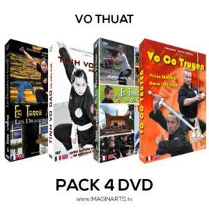 Pack 4 DVD Vo Thuat - Arts Martiaux Vietnamiens