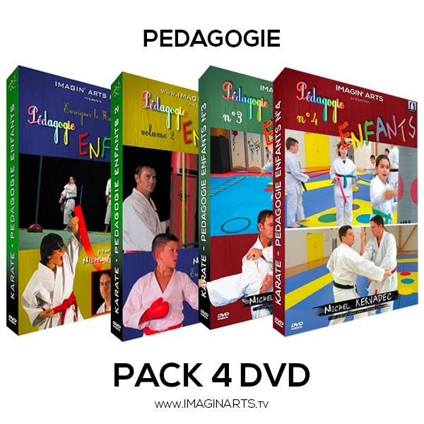 pack 4 dvd cours de karaté pour les enfant avec Michel Kervadec