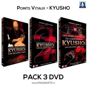 pack 3 DVD vidéo Kyusho Jitsu Waza avec Serge Rebois sensei