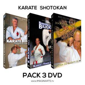 Pack 3 DVD karate shotokan pour préparer ses bunkai premier dan shodan