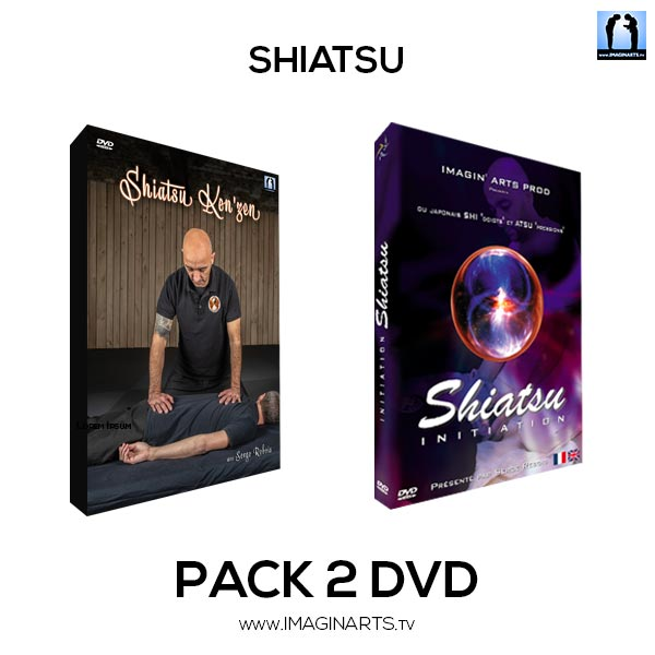 pack 2 DVD Shiatsu avec Serge Rebois sensei