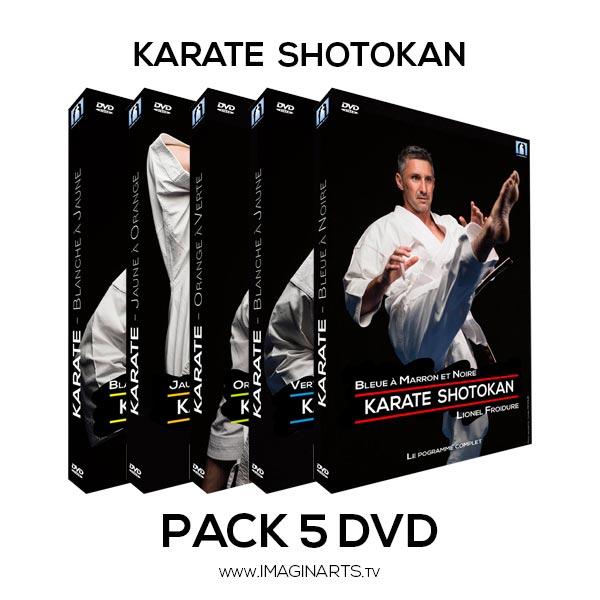5 DVD Karate Shotokan - de la ceinture blanche à la ceinture noire