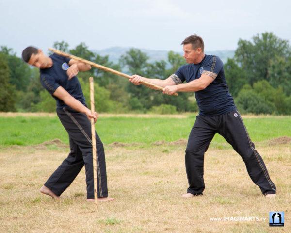 baton long contre mimar en arnis kali avec Master Dani Faynot