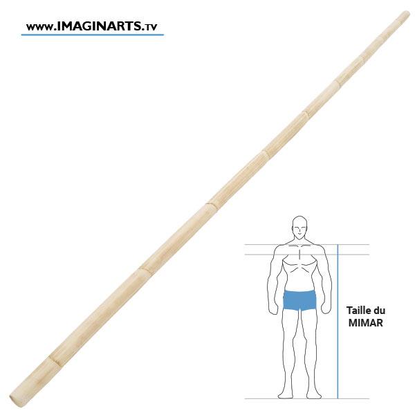 Mimar - bâton long en rotin arts martiaux philippins - Arnis Kali Eskrima