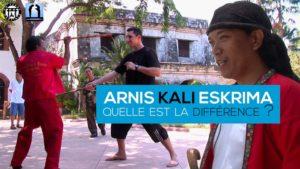 arnis kali eskrima : quelle différence dans ces arts martiaux philippins ?